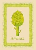 Artichoke & border Royalty Free Stock Photography