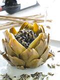 Artichoke cooked in a traditional way Stock Image