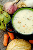 Artichoke Creamy Soup Stock Photography