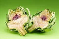 Artichoke on a green Royalty Free Stock Photo