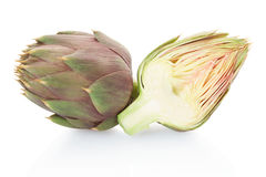 Artichoke and half Stock Photo