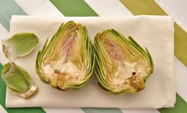Artichoke halves Royalty Free Stock Images