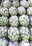 Artichoke heads in a market in Paris, France Royalty Free Stock Photography