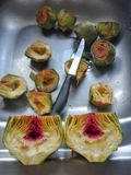 Artichoke hearts. Closeup of artichokes Stock Photo