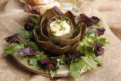 Artichoke hollandaise Stock Photo