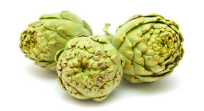 Artichoke isolated Royalty Free Stock Images