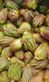 Artichoke in a market,green vegetables backgound Stock Photos