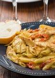 Artichoke Pasta Royalty Free Stock Image