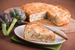 Artichoke Pie. Royalty Free Stock Photos