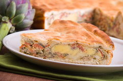 Artichoke Pie. Stock Photos