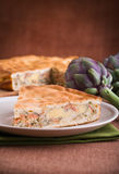 Artichoke Pie. Royalty Free Stock Photo
