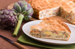 Artichoke Pie. Royalty Free Stock Image