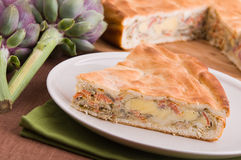 Artichoke Pie. Royalty Free Stock Photography