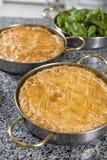 Artichoke  pie on a plate Royalty Free Stock Photos