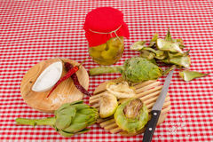 Artichoke preserve homemade Royalty Free Stock Photo
