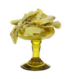 Artichoke Quarters In Green Goblet Royalty Free Stock Photo