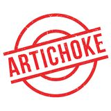 Artichoke rubber stamp Royalty Free Stock Images