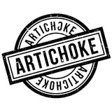 Artichoke rubber stamp Royalty Free Stock Photo