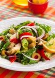 Artichoke Salad. Marinated Artichoke Hearts Salad on the plate Royalty Free Stock Images