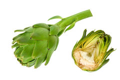 Artichoke and section Royalty Free Stock Photo