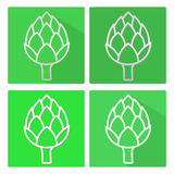 Artichoke. A set of flat icons with shadows. Vector. Artichoke. A set of flat icons with shadows. Vector image Stock Images