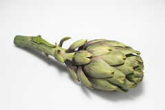 Artichoke with shadow on white Stock Photo