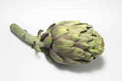 Artichoke with shadow on white Royalty Free Stock Images
