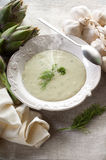 Artichoke soup Stock Photography
