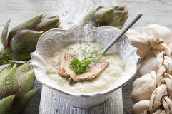 Artichoke soup Royalty Free Stock Photography