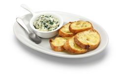 Artichoke spinach dip. Healthy vegetarian food  on white background Stock Images