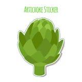 Artichoke sticker made in cartoon flat style. Label for markets Stock Photo