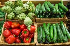 Artichoke, Zucchini and pepper Royalty Free Stock Photos