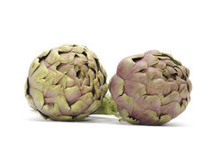 Artichokes. Isolated on white background Stock Images