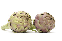 Artichokes. Isolated on white background Royalty Free Stock Image
