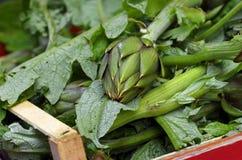Artichokes. Some artichokes at market places Stock Images