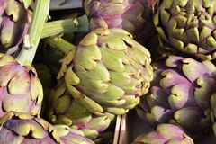 Artichokes background Royalty Free Stock Photography