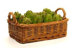 artichokes basket 库存图片