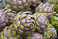 Artichokes closeup. Closeup of some artichokes at the market Stock Photos