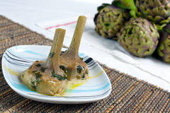 Artichokes cooked Royalty Free Stock Photos
