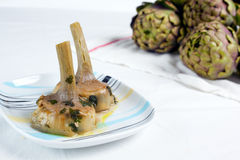 Artichokes cooked Royalty Free Stock Image