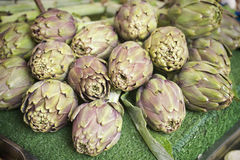 Artichokes at farmer market Royalty Free Stock Images