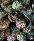 Artichokes on farmers market in the south of Mediterranean Royalty Free Stock Image