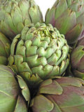 Artichokes group. Royalty Free Stock Photo