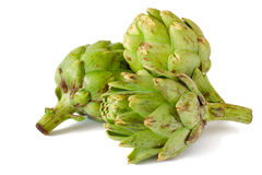 Artichokes isolated on white background Royalty Free Stock Photo