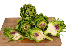 Artichokes on isolated on white background Royalty Free Stock Photography