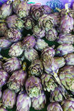 Artichokes. Market in Forcalquier, Provence, France Royalty Free Stock Photography