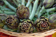 Artichokes at the market Stock Image
