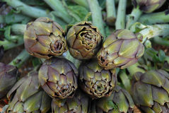 Artichokes at the market Royalty Free Stock Photos