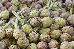 Artichokes on a market. Artichokes  on a south italian market Royalty Free Stock Images