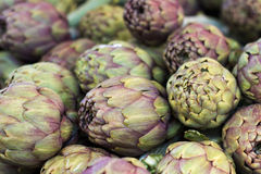 Artichokes on a market Royalty Free Stock Photos